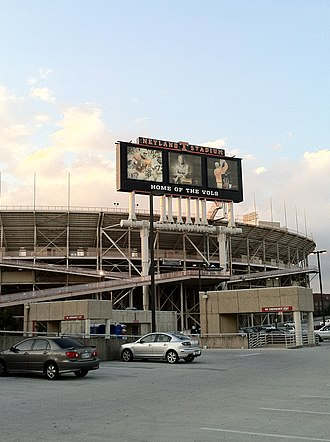 Neyland Stadium - South-side of Neyland Stadium as the sun sets