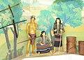 Người Bru - Vân Kiều tại nhà bảo tàng Khe Sanh1.JPG