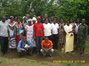 Bakossi people - Farming trainees at Ngab in 2008