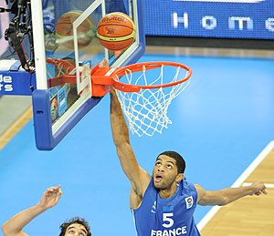 France national basketball team - Nicolas Batum gave Team France much support to win Silver at the FIBA EuroBasket 2011