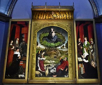 Nicolas Froment - Triptych of the Burning Bush, by Nicolas Froment, in Aix Cathedral