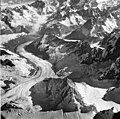 Nielson Glacier, mountain glacier and many hanging glaciers with ice fall and bergschrund on the surrounding mountainsides (GLACIERS 6020).jpg
