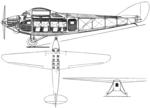 Nieuport-Delage NiD 540 3-view L'Aérophile October,1928.png