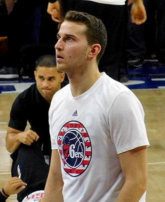 Nik Stauskas - Stauskas with the Philadelphia 76ers in 2015