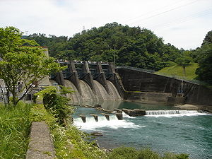 Ibi River - Nishidaira Dam on the Ibi River in Ibigawa