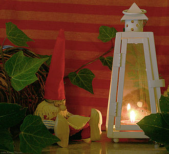 Nisse (folklore) - A tomtenisse made of salty dough. A common Scandinavian Christmas decoration.