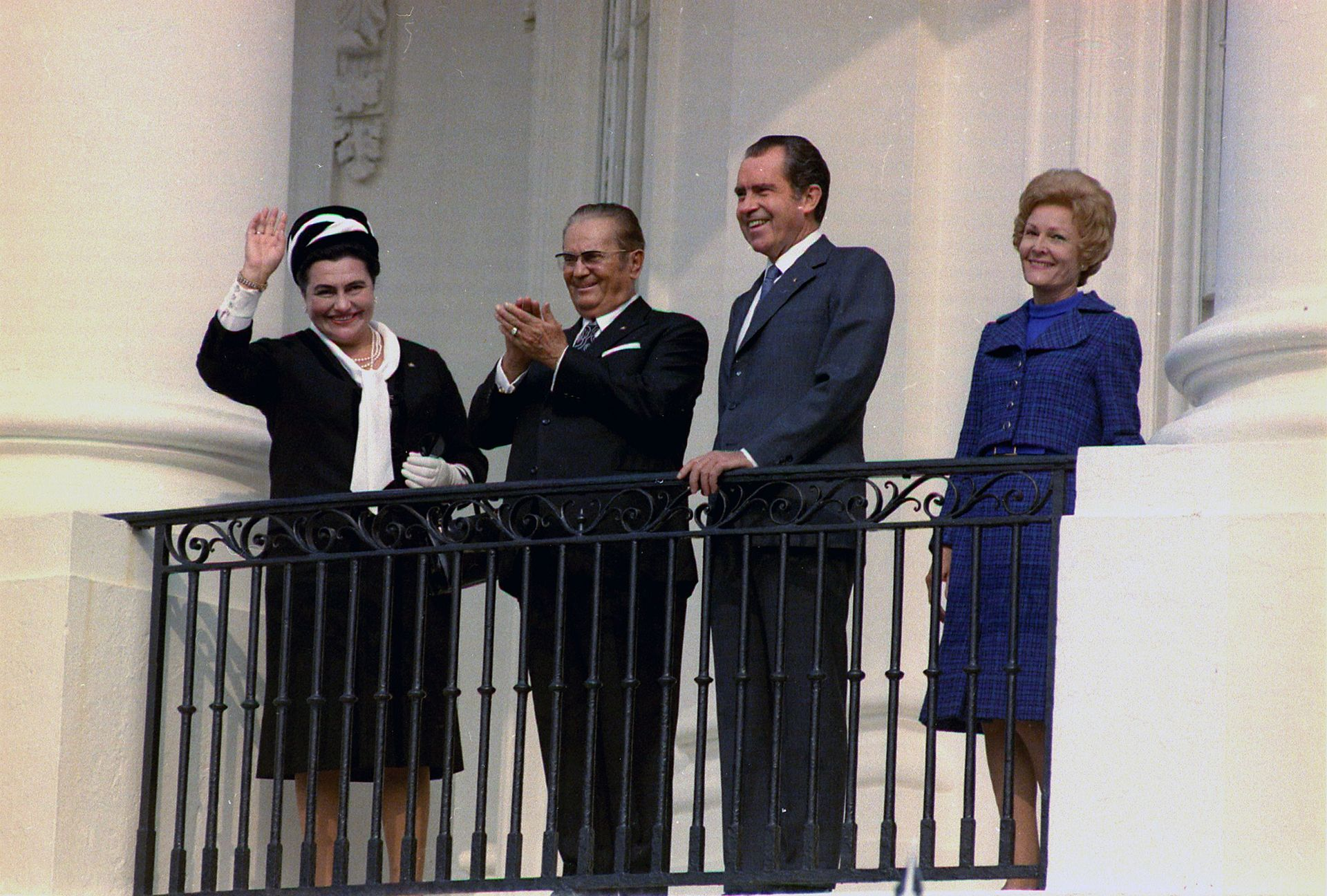Richard Nixon with Tito at the White House, 1971