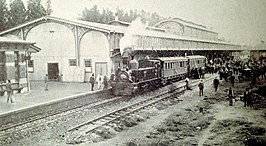 North-eastern view of the covered platform of Park Station 1897 - NZASM 100.jpg