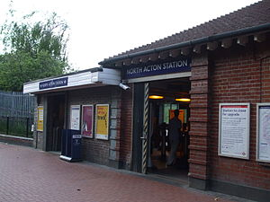 North Acton tube station - Image: North Acton stn entrance