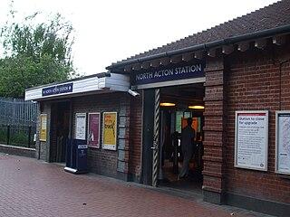 North Acton tube station London Underground station