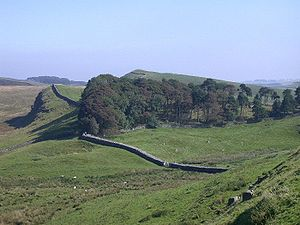 Northumberland National Park - View of Hadrian's Wall, Northumberland National Park