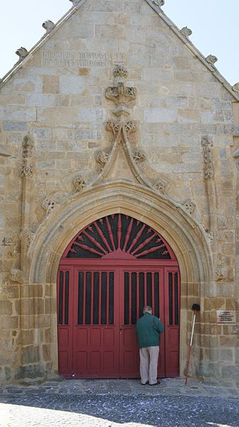 North door of Notre Dame de Larmor-Plage church