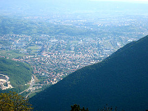 Nova Gorica - Nova Gorica viewed from Sveta Gora.