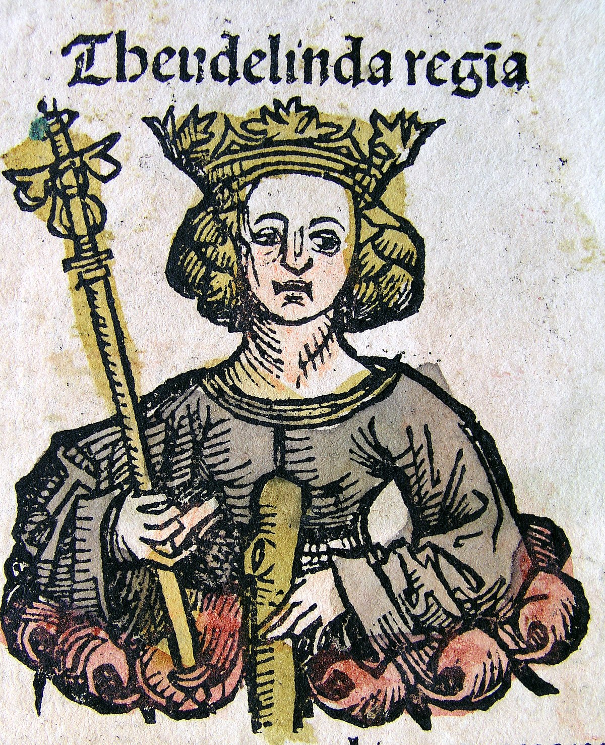 Nuremberg chronicles - Theudelinda, Queen of the Lombards (CLr).jpg