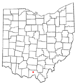 Location of Lucasville, Ohio