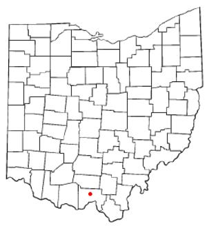 Lucasville, Ohio - Image: OH Map doton Lucasville