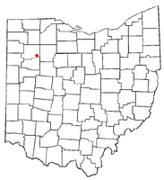 Location of Pandora, Ohio