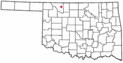 Location of Alva, Oklahoma