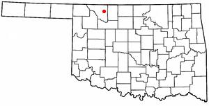 Alva, Oklahoma - Image: OK Map doton Alva