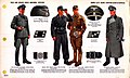 ONI JAN 1 Uniforms and Insignia Page 046 German Armed Elite Guard Waffen-SS WW2 Field service dress uniforms. Officers. Service dress, tank troops, summer uniform, overcoat, caps, buckle, collar patches. Jan. 1944 Field recognition. No.jpg