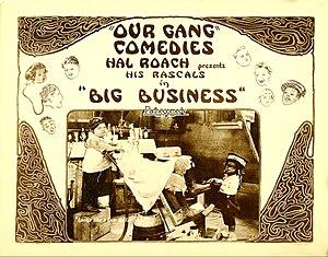 Big Business (1924 film) - Lobby card