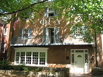 Phi Gamma Delta - Alpha Omega Chapter house at Ohio University.