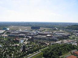 winkelcentrum Centro Oberhausen vanuit de lucht