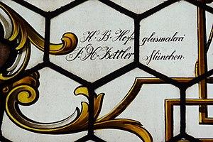 Franz Xaver Zettler - Signature of the company F.X. Zettler.