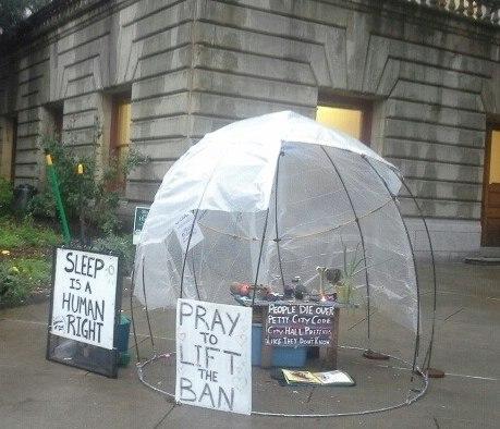 Occupy Portland Prayer Vigil, Jan. 2013