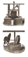 Oil press and mill from the book A Practical Treatise on Olive Culture, Oil Making and Olive Pickling.png