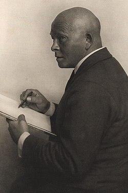 Olaf Gulbransson 1929. Foto von Eduard Wasow.jpg
