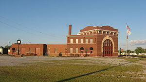Flora, Illinois - Former Baltimore & Ohio railroad depot in Flora, Illinois