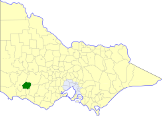 Shire of Mount Rouse - Location in Victoria