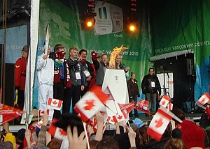 St. Francis Xavier University - Vancouver 2010 Olympic Flame at StFX