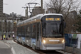Flexity Outlook - Brussels tram in Vancouver during the 2010 Winter Olympics