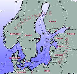 Kaart van de Oostzee