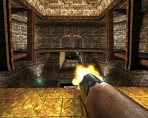 Fast inverse square root - Lighting and reflection calculations (shown here in the first-person shooter OpenArena) use the fast inverse square root code to compute angles of incidence and reflection.