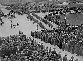 Opening of Stormont in 1932 Opening of the new Northern Ireland Parliament Buildings.jpg
