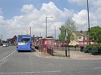 Optare bus in South Elmsall Bus Station, Wakefield, West Yorkshire 29 May 2009.jpg