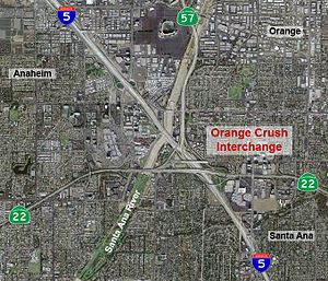 Spaghetti Junction - The Orange Crush interchange in Orange County, California