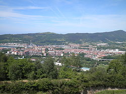 Panoramic view of Errenteria, from Mount San Marko