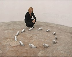 Orshi Drozdik Brains on High Heels, 1993 installation, photo 2006.jpg