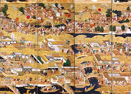The Sumiyoshi-matsuri festival in the 16th century - Osaka