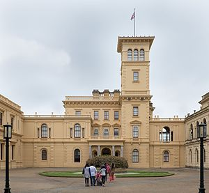 Osborne House - The Pavilion Wing from the south-west