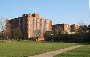 Stott and Sons - Osborne Mills, Chadderton. The older mill behind was by A. H. Stott, the new mill by P. S. Stott