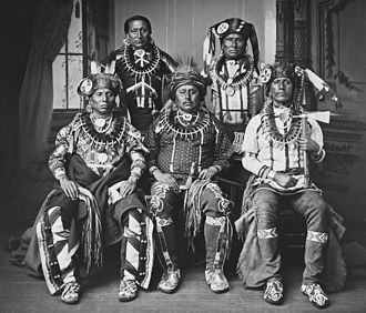 Otoe - Otoe delegation, 1881. Photographer John K. Hillers