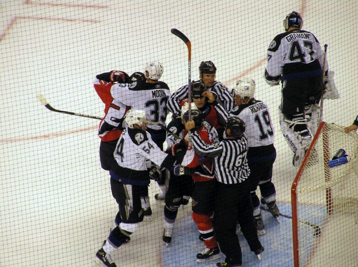Fighting in ice hockey