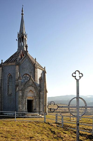 Ouhans, chapel Notre Dame des Anges; Franche-Comté, France.