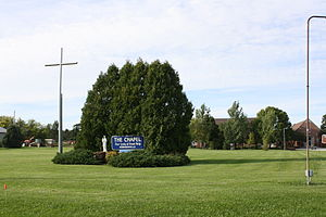 National Shrine of Our Lady of Good Help - Image: Our Lady Of Good Help Sign