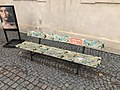 Overview of bench of Václav Havel at náměstí Václava Havla in Litomyšl, Svitavy District.jpg